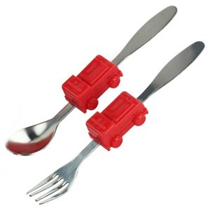 Me Time Fire Engine Utensils