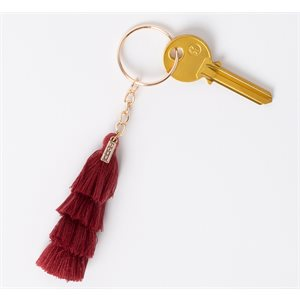 Tassels Brown Red Keychain