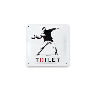 Tin Plate Sign-Toilet