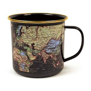 Man of the World Blue Enamel Mug