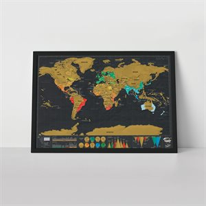 Travel Edition Scratch Map-Deluxe