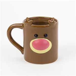 Gift Republic Heat Change Mug-Reindeer